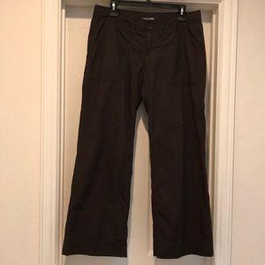 Gap brown 'hip slung fit' wide leg pants